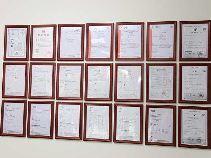 荣誉证书墙